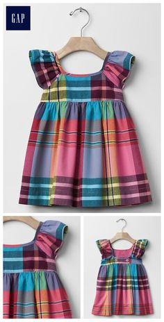 Maiden plaid flutter dress