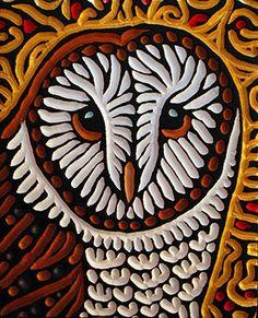 Barn owl woodcut by Calgary artist Lisa Brawn Doodle Paint, Posca Art, Picasso Art, Rock Painting Designs, Gourd Art, Owl Art, Native Art, Applique Quilts, Pet Birds