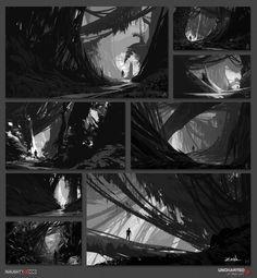 ArtStation - Uncharted 4 - B&W Sketches, Eytan Zana