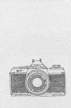 Hand drawn camera collection book.