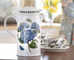 Portmeirion Cafetière Bring the beauty of Botanic Garden to your table Serveware, Tableware, Cafetiere, Fresh Coffee, Coding, The Incredibles, Tea, Dishes, Beauty