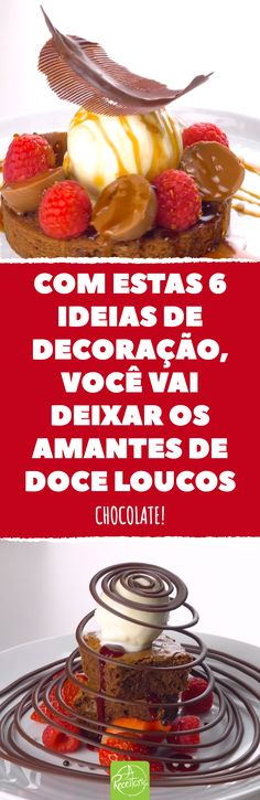 Com estas 6 ideias de decoração, você vai deixar os amantes de doce loucos. Chocolate! Decorações incríveis com chocolate para sobremesas.  #chocolate #decoraçaodechocolate #sobremesa #sobremesasdecoradas #penadechocolate #espiraisdechocolate #maodechocolate Chocolates, Linux, Waffles, Cake Decorating, Diy And Crafts, Food And Drink, Breakfast, Desserts, Lunch Ideas
