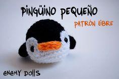 Pingüino llavero patrón amigurumi gratis - Enemy Dolls