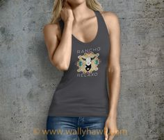 Dean the Goat Tank Top - Female Charcoal