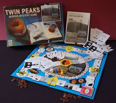 Twin Peaks Murder Mystery Game — somebody find this for me, and also I'll take a damn fine cup of Joe.
