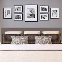 "Pinnacle Gallery Perfect 7 pc Frame Kit - Love this for the Living room! Contains: Four 6"" x 8"" frames matted to 4"" x 6"", Two 8"" x 10"" frames matted to 5"" x 7"", One 12"" x 16"" frame with 8"" x 12"" or 8"" x 10"" mat options"