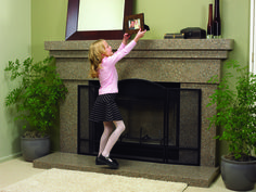 Give yourself the gift of a refaced fireplace by Granite Transformations #holiday #fireplace #granite