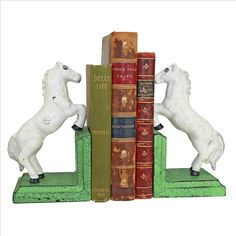 MAJESTIC STALLION CAST IRON BOOKEND SET