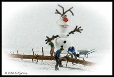 Winterarbeit in der Mini-Menschen Welt und Olaf der Schneemann   Flickr - Photo Sharing!