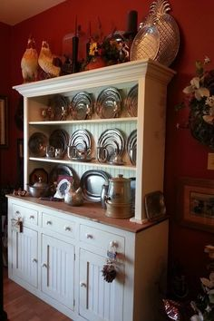 Primitive Hutch Made By Us Here At Past Time Primitives!!! Can be ordered in any if our colors..
