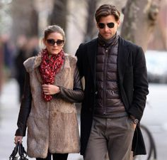 Olivia Palermo Photos - Model socialite Olivia Palermo and her beau Johannes Huebl enjoyed a meal at Sant Ambroeus restaurant in the West Village area of New York City, New York on January - Olivia Palermo And Beau Johannes Huebl Grab Lunch Star Fashion, Mens Fashion, Fashion Trends, Dior Clutch, Armani Jacket, Stylish Couple, Dior Haute Couture, Miss Dior, Men's Wardrobe