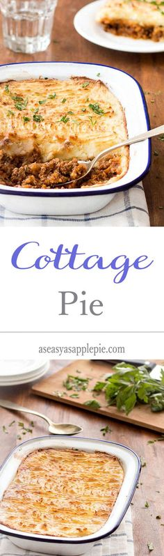 Pie Cottage pie is a comforting and utterly delicious British recipe. It's easy to make, affordable and freezes beautifully!Cottage pie is a comforting and utterly delicious British recipe. It's easy to make, affordable and freezes beautifully! Welsh Recipes, Scottish Recipes, Pie Recipes, Cooking Recipes, English Recipes, British Recipes, English Meals, English Dishes, Entree Recipes