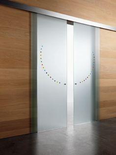 Doppia porta scorrevole esterno muro Inside, vetro bronzo ...