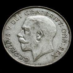 1924 George V Silver Shilling - Rare - AVF
