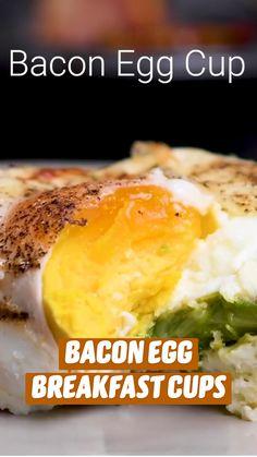 Fun Baking Recipes, Brunch Recipes, Breakfast Recipes, Cooking Recipes, Egg Recipes, Breakfast Cups, Breakfast Casserole, Low Carp, Food Dishes