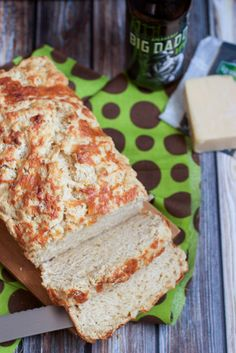 Next time you need a quick bread to bake up to go with dinner give Beer and Irish Cheese Bread a try!