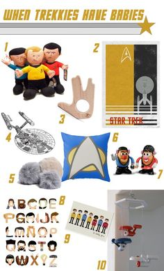 Star Trek Nursery Items (gift ideas for geeky parents-to-be)