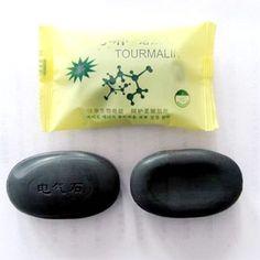 1 Stück Aktive Energie Schwarze Bambuskohle Seife Gesicht Körper Klar Antibakterielle Anti Aging Schönheit Gesundheitspflege Turmalin Seife RP1-5