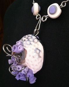 necklace - polymer clay and german silver by studioSIXTYFIVE, via Flickr