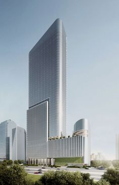 508413c387bdab0144581724fe7d9748 (800×1244) Office Building Architecture, Building Facade, Futuristic Architecture, Facade Architecture, Amazing Architecture, Contemporary Architecture, Modern Skyscrapers, Tower Design, Unique Buildings
