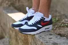 "Nike Air Max 1 ""White/Red/Navy"""