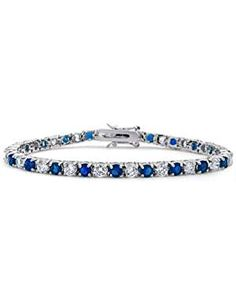 Bling Jewelry Simulated Sapphire Bracelet. >>> See this great product. (This is an affiliate link) #TennisBracelets