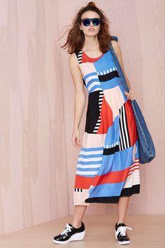 Dusen Dusen Take Shapes Silk Dress | Shop Dresses at Nasty Gal