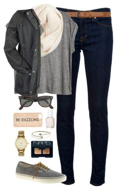 Vans for JCrew- So Cute! by classically-preppy on Polyvore featuring beauty, NARS Cosmetics, Essie, J.Crew, Kate Spade, Ray-Ban, Dorothy Perkins, LC Lauren Conrad, H&M and J Brand: