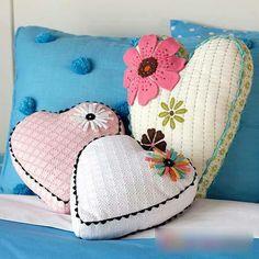 Almohadones corazon