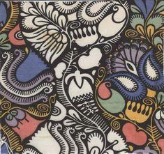 """""""Konstantinopel"""" textile swatch  Ugo Zovetti  Wiener Werkstatte  1910-12"""