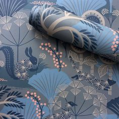Love the feel of surface printed wallpapers. This is Mårdgömma from Wonderland collection for Swedish brand Blue Kitchen Wallpaper, Tier Wallpaper, Print Wallpaper, Animal Wallpaper, Pattern Wallpaper, Wallpaper Ideas, Winter Wonderland Background, Scandinavian Wallpaper, Swedish Wallpaper
