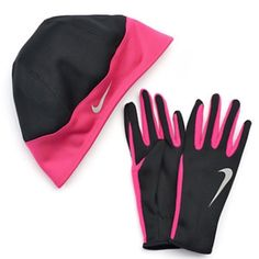 Women's Nike Thermal Beanie & Gloves Set hot pink NEW Women's Nike Thermal  Beanie & Gloves