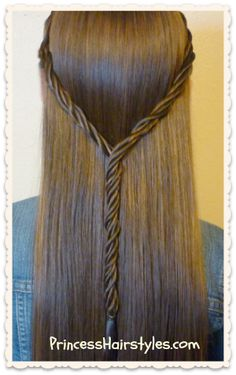 Licorice braid tie back hairstyle, video tutorial