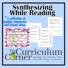 Synthesizing While Reading Graphic Organizers---I like the Think-Pair-Share graphic organizer Reading Comprehension Strategies, Reading Resources, Reading Activities, Reading Skills, Reading Groups, Reading Logs, Reading Worksheets, Reading Lessons, Classroom Resources