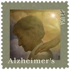 US Postage Stamp Commemorating Alzheimer's