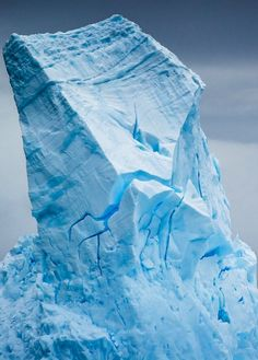 Cruising the South Orkney Islands, our first large icebergs were encountered. Even the seasick came out for these. By Rice Jackson