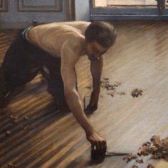 'Les raboteurs de parquet' (detail), by Gustave Caillebotte, Sculpture Textile, Gustave Courbet, Henry Moore Sculptures, Expositions, Male Figure, Portraits, French Art, Figure Painting, Edgar Degas