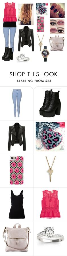 """Untitled #300"" by haley-spoon ❤ liked on Polyvore featuring beauty, Topshop, Casetify, The Giving Keys, Theory, Sea, New York, Allurez and Olivia Burton"