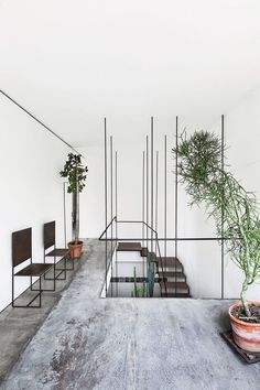 5 Lucky Clever Tips: Industrial Sofa Living Spaces industrial modern white.Industrial Home Loft industrial cafe concept. Home Interior, Modern Interior, Interior And Exterior, Interior Decorating, Interior Plants, Interior Staircase, Open Staircase, Decorating Ideas, Floating Staircase