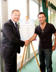 Head of sponsorship Matt Sandford, welcomes Gino De Campo #food #horticulture