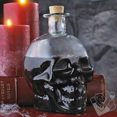 Green Glass Skull Decanter at Wine Enthusiast - $24.95
