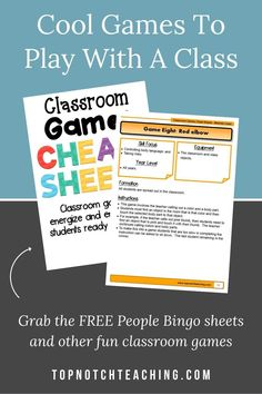 Do your students get excited when you say it's time for a game? Some classroom games work well for your whole class, others will be more fun for small groups—and some can even be adapted for kids to play on their own. If you are looking for games to get kids moving or give them a brain break to help them refocus, start with these 7 cool games to play with a class.