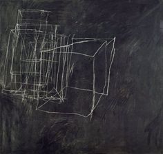 House paint + crayon on canvas - Cy Twombly