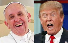 "Pope Francis has questioned Donald Trump's Christianity over his call to build a border wall with Mexico. The pontiff said ""a person"