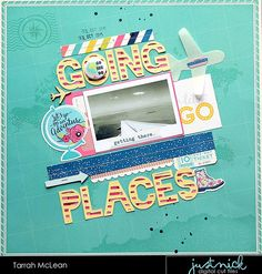 Hey there friends! It's Tarrah back with you and today I am excited to be bringing you a new layout that I created using some of the brand new cut files in the