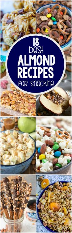 18 BEST ALMOND RECIPES FOR SNACKINGReally nice recipes. Every  Mein Blog: Alles rund um die Themen Genuss & Geschmack  Kochen Backen Braten Vorspeisen Hauptgerichte und Desserts # Hashtag