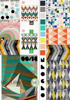 Inspiration/Information. - Mirella Bruno. SS/14.  Neo-Geo. Personal Print/Colour Directions for personal upcoming projects.