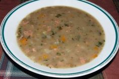 Čočková polévka s uzeninou Cheeseburger Chowder, Soup, Diet, Soups, Chowder