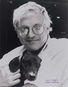 DAVID HOCKNEY (British: 1937) - ´SELF PORTRAIT WITH DOG´