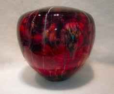 Untitled by Robert Cherry -- www.divinosantafe.com Lathe, Wood Turning, Art Decor, Home Decor, Wood Art, Christmas Bulbs, Cherry, Carving, Hands